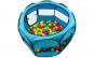 Tarc de joaca pliabil pentru copii, albastru, acoperis detasabil, diametru 90cm