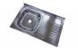Chiuveta inox 430-04mm, Pentru masca ZLN-1862, cuva stanga+sifon scurgere cu ventil