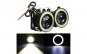 Set 2 proiectoare LED lupa si Angel 64mm