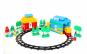 Trenulet cu sina pentru copii, 550 piese, locomotiva, gara si diverse constructii