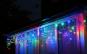 Instalatie pentru Craciun - franjuri, cu LEDuri albe tip turturi, 8 metri