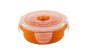 Recipient pliabil din silicon pentru hrana, Portocaliu, 230 ml