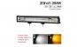 Led bar 288w, bicolor: alb si galben 12/24 V, prinderi incorporate si suruburi functie blitz