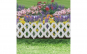 Bordura pt. pat de flori / gard - 60 x 22 cm - alb GLZ-11470A