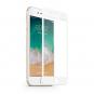 Set 2x Folie MTP 9D pentru iPhone 7 White Full Cover margini curbate