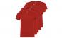 Set de 5 tricouri rosii din bumbac pentru adulti