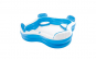 Piscina gonflabila pentru copii si adulti - 4 locuri (alb cu albastru)
