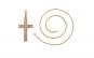 Lantisor Anebris cruciulita dublu placat aur 18K, lungime 45 cm
