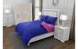 Lenjerie de pat matrimonial SUPER cu 4 huse de perna cu mix dimensiuni, Duo Bluemarin, bumbac satinat, gramaj tesatura 120 g mp, Albastru Roz, 6 piese