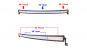 Proiector LED BAR curbat 105cm 240w