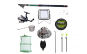 Set lanseta 3.6m pescuit sportiv, mulineta QFC1000, fir, montura, proiector solar, palarie, minciog, juvelnic, senzor si suport