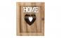 Cutie de lemn maro pentru depozitare chei Home, Decor Casa, Alb Home, 24.5*20.5