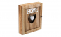 Cutie de lemn maro pt depozitare chei