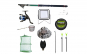 Set lanseta 3.6m pescuit sportiv, mulineta YF200, fir, montura, proiector solar, palarie, minciog, juvelnic, senzor si suport