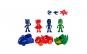 Set 4 figurine Eroi in Pijama cu masinute si accesorii de lupta