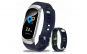 Bratara Techstar® Fitness B11 Albastru  IPS  Bluetooth 4.0  IP67  Monitorizare Cardiaca  Tensiune. Oxigenare  Hidratare