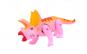 Dinozaur, triceraptor, cu sunete si lumini, alearga, roz