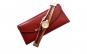 Pachet portofel elegant de dama cu suport detasabil, visiniu + ceas visiniu cu inchizatoare tip bratara
