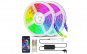 Kit Banda LED RGB Vivid Light,20 Metri,Bluetooth Controlul APP,cu Telecomanda IR 44 Taste,SMD 5050,12V,Multicolor