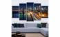Set tablou Canvas, peisaj urban, 5 piese (30 x 50 cm, 30 x 70 cm, 30 x 80 cm)