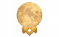 Lampa de veghe Luna Moon Lamp 3D -  LED portabila, stand lemn, intensitate reglabila, reincarcabila