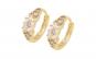Cercei cu pietre zirconiu, placati cu aur de14K, model Celine