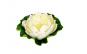 Nufar decorativ artificial alb cu bol