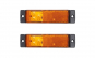 Set 2 lampi gabarit 130x32 cu 3 LED-uri, galbena, cu suport urechi, 12V