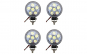 Set 4 proiectoare led Mini, Off Road, diametru 8cm, 18W, 6 LED