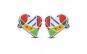 Cercei inox inimioare multicolore