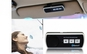 Car kit cu Bluetooth, iti permite sa primesti si sa respingi apeluri telefonice in siguranta in timp ce te afli la volan.