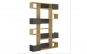 Biblioteca Quasar & Co., 120 x 20 x 171 cm, lemn, stejar/antracit