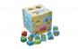 Cub Montessori 2 in 1, Sortare forme si Snuruire, lemn bine finisat si vopsit cu lacuri non-toxice, design atractiv si culori vibrante