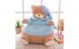 Fotoliu multifunctional din plus ursuletul Teddy - albastru, roz, galben