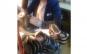 Pantofi brodati manual, din piele