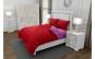 Lenjerie de pat matrimonial cu husa de perna dreptunghiulara, Duo Red, bumbac satinat, gramaj tesatura 120 g mp, Rosu Roz, 4 piese