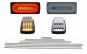 Stopuri Full LED Fumurii +Bandouri Laterale Aluminiu si Lampi Semnalizare Albe compatibil cu Mercedes Benz W463 G-Class (1989-2015)
