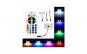 Set 2 Placute LED 12 SMD RGB cu telecomanda+CADOU 2XSuport Telefon Fixate Gel Pad forma rotunda- Fixeaza orice oriunde