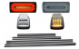 Stopuri Full LED Fumurii + Bandouri Laterale Negre+ Lampi Semnalizare Albe LED AMG Design compatibil cu Mercedes Benz W463 G-Class (1989-2015)
