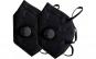 Set 2 Masti negre KN95 FFP2 cu valva, sigilate individual