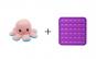 Caracatita reversibila din plus cu fata fericita si fata trista, Flippy, multicolor + Jucarie Senzoriala Antistres, Pop It Now