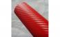 Rola folie carbon 3D rosie latime 1.27m