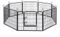 Tarc pentru caini/iepuri/rozatoare Negru 77 x 60 cm