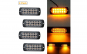 Stroboscoape 12 LED, lumina galbena