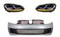 Ansamblu bara fata compatibil cu VW Golf VI 6 (2008-2013) cu faruri Osram Xenon Upgrade Red GTI LED Semnal Dinamic Secvential 1