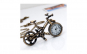 Ceas lantisor bicicleta + CUTIE lemn