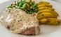 Meniu frantuzesc complet + Desert Melon Glace! Cotlet de porc cu sos nomad (sos special realizat din suc de mere si vin) + Garnitura Piure sau Cartofi boieresti + Salata de varza rosie + Desert, la 13 RON in loc de 38 RON