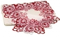 Fata de masa cu dantela rosie/mov, la doar 94 RON in loc de 245 RON