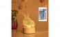 Lampa de veghe3D LED, Iepuras, 16 Culori, schimbare culoare prin telecomanda, Lumina Ambientala, Alimentare USB cu Incarcator priza si/sau 3 baterii AA