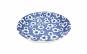 Set 6 farfuri ceramica,18 cm cu flori albe,albastra